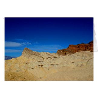 Point de Zabriskie, carte de note de Death Valley