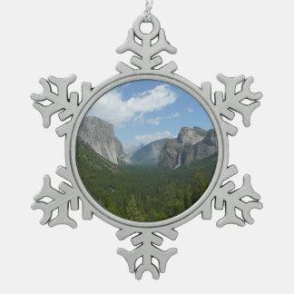 Point d'inspiration en parc national de Yosemite Ornement Flocon De Neige Pewter