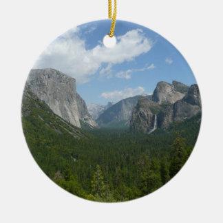 Point d'inspiration en parc national de Yosemite Ornement Rond En Céramique