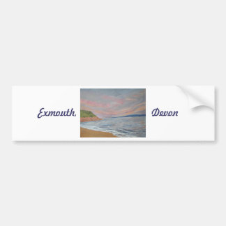 Point Exmouth Devon R-U d'Orcombe Autocollant Pour Voiture