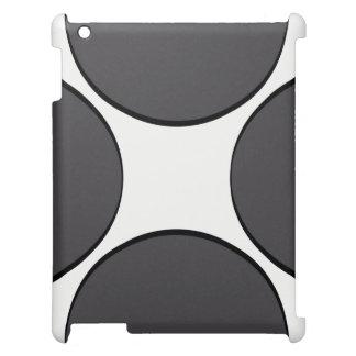 Point gris-foncé coque iPad