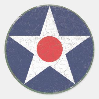 Point rouge rustique de rondeau d étoile adhésif