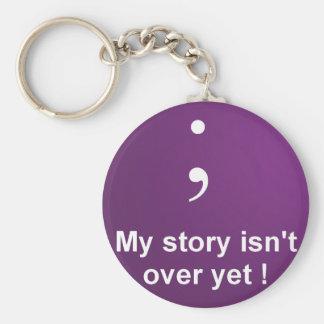 """Point-virgule - """"mon histoire n'est pas au-dessus porte-clé rond"""