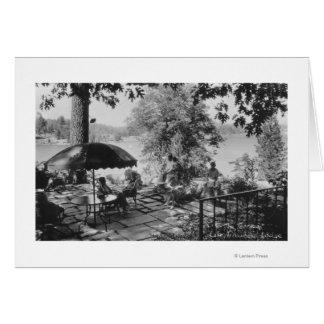 Pointe de flèche de lac, vue de loge de la carte de vœux