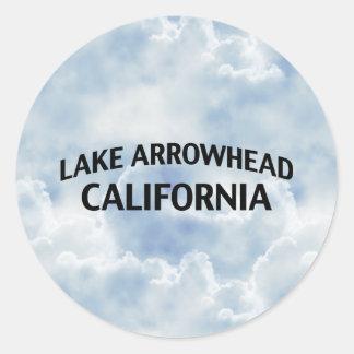 Pointe de flèche la Californie de lac Autocollant Rond