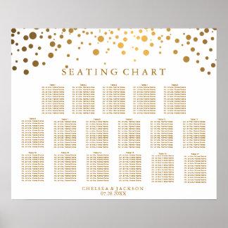 Points à la mode d'or de confettis - diagramme poster