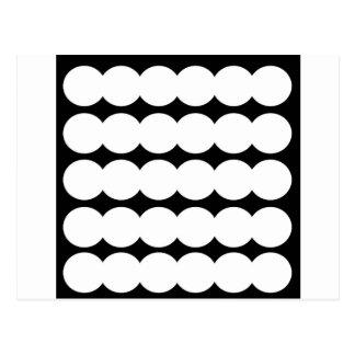 Points blancs d'Ethno BLANCS ET NOIRS. Conception Carte Postale
