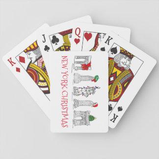 Points de repère de vacances de Noël NYC de New Jeux De Cartes