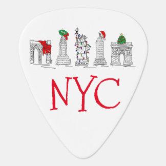 Points de repère de vacances de Noël NYC de New Onglet De Guitare