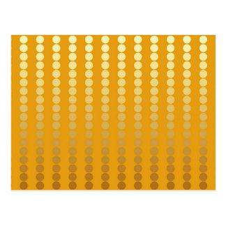 Points de satin - or et moutarde carte postale