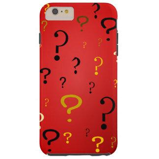 Points d'interrogation mystérieux coque iPhone 6 plus tough