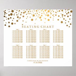 Points d'or de confettis à la mode - diagramme poster
