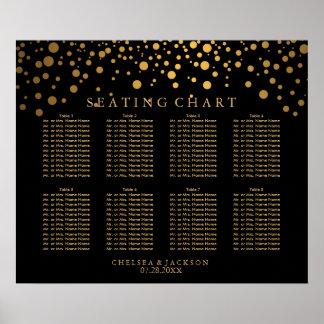 Points d'or de confettis à la mode sur le poster