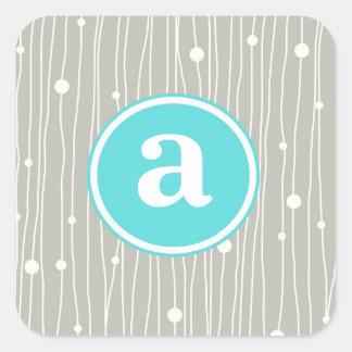Points et lignes stickers carrés