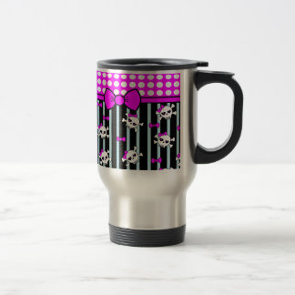 Points et têtes de mort, échantillons mug de voyage en acier inoxydable