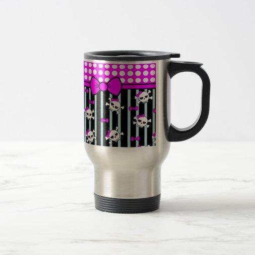 Points et têtes de mort, échantillons tasse à café