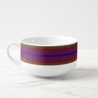 Points multicolores mug à potage