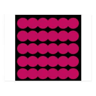 Points roses ROSE ET NOIR d'Ethno. Conception Carte Postale