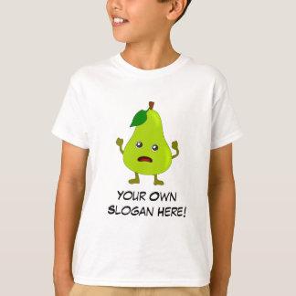Poire gâtée avec le slogan personnalisable t-shirt