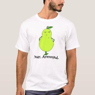 Poire, pièce en t contrariée t-shirt