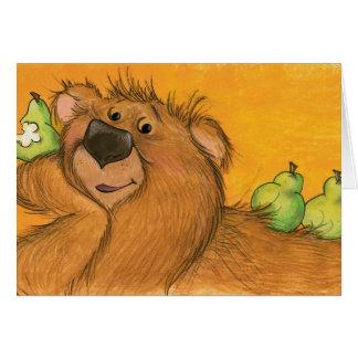 Poires et carte d'ours/note