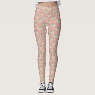 Pois assez rose de leggins de palmier leggings
