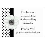 Pois blanc noir d'anémone épousant le site Web Cartes De Visite Professionnelles