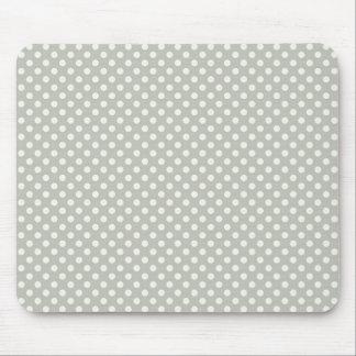 Pois blanc sur l'arrière - plan gris tapis de souris