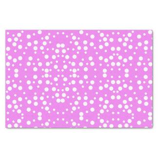 Pois blanc sur le papier de soie de soie de rose