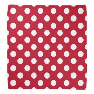 Pois blanc sur le rouge bandanas