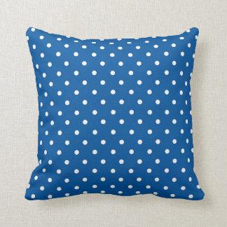 Pois bleu et blanc oreillers