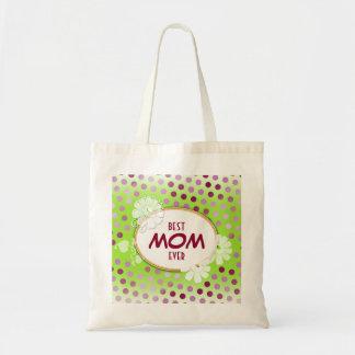 Pois coloré drôle pour le jour de mère sac en toile