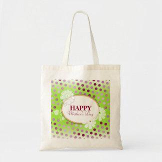 Pois coloré drôle pour le jour de mère sacs en toile