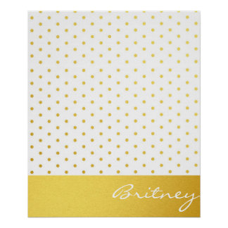 Pois d'or et monogramme - coutume posters