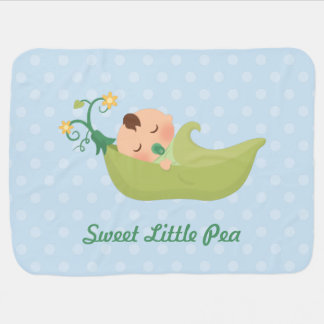 Pois doux dans une cosse pour le bébé couvertures de bébé