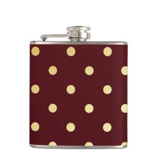 pois élégant de brun d'or flasques