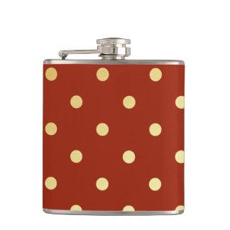 pois élégant de rouge d'or flasques