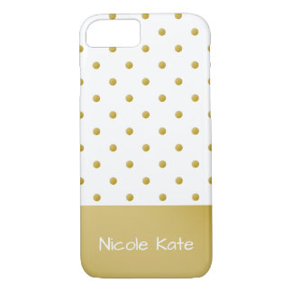 Pois élégant moderne d'or coque iPhone 8/7
