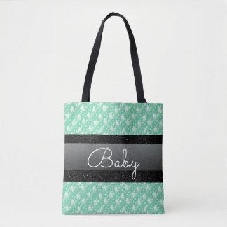 Pois et sac verts en bon état élégants de bébé de