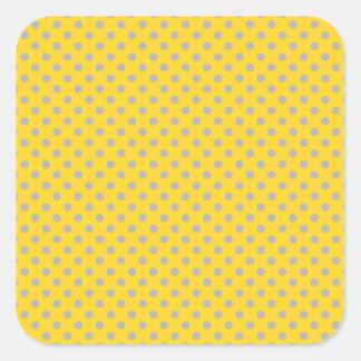 pois gris minuscule jaune sticker carré