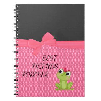 Pois, message Froggy-De motivation mignon Carnet