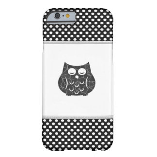pois mignon girly à la mode élégant de hibou coque iPhone 6 barely there