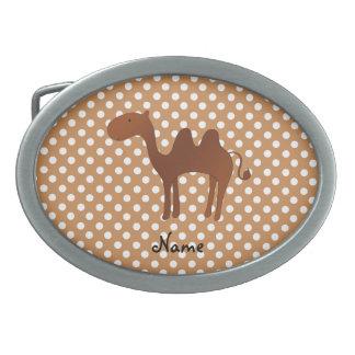 Pois mignon nommé personnalisé de brun de chameau boucles de ceinture
