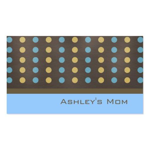 Pois moderne de Brown de télécarte de maman Cartes De Visite Professionnelles