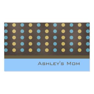 Pois moderne de Brown de télécarte de maman Carte De Visite Standard