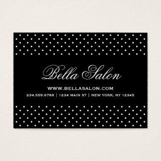 Pois moderne mignon noir et blanc cartes de visite