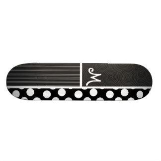 Pois noir et blanc plateaux de skate