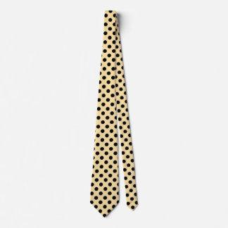 Pois noir sur jaune pâle cravate