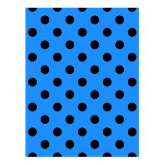 Pois - noir sur le bleu de Dodger Cartes Postales