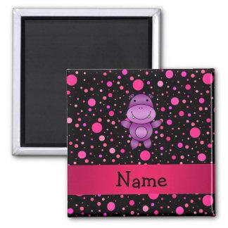 Pois nommé personnalisé de rose de noir aimant